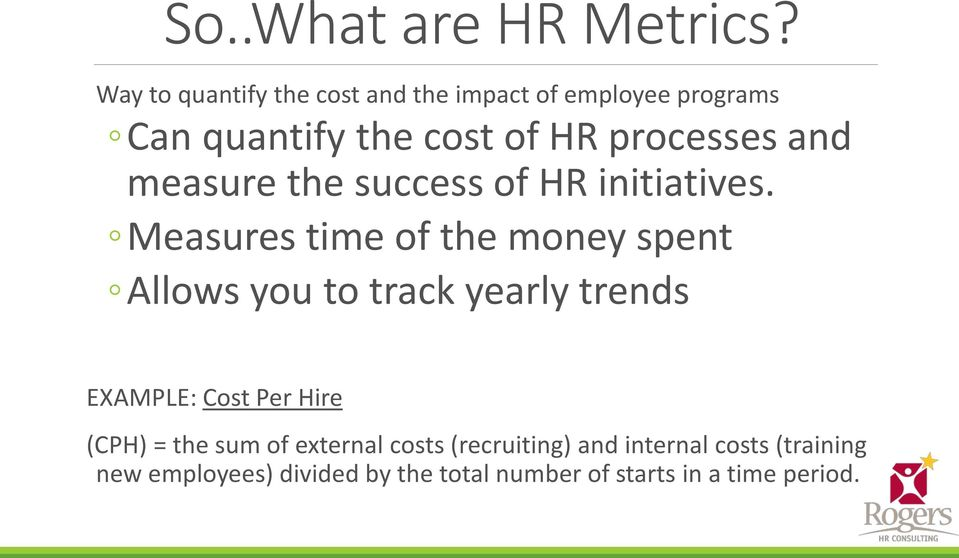 Hr Metrics And Workforce Analytics No Balance No Roi The Rise Of