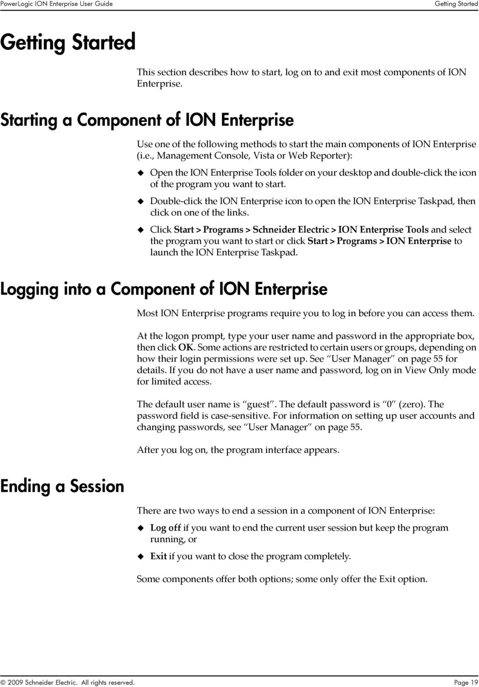 Double click the ION Enterprise icon to open the ION Enterprise Taskpad, then click on one of the links.