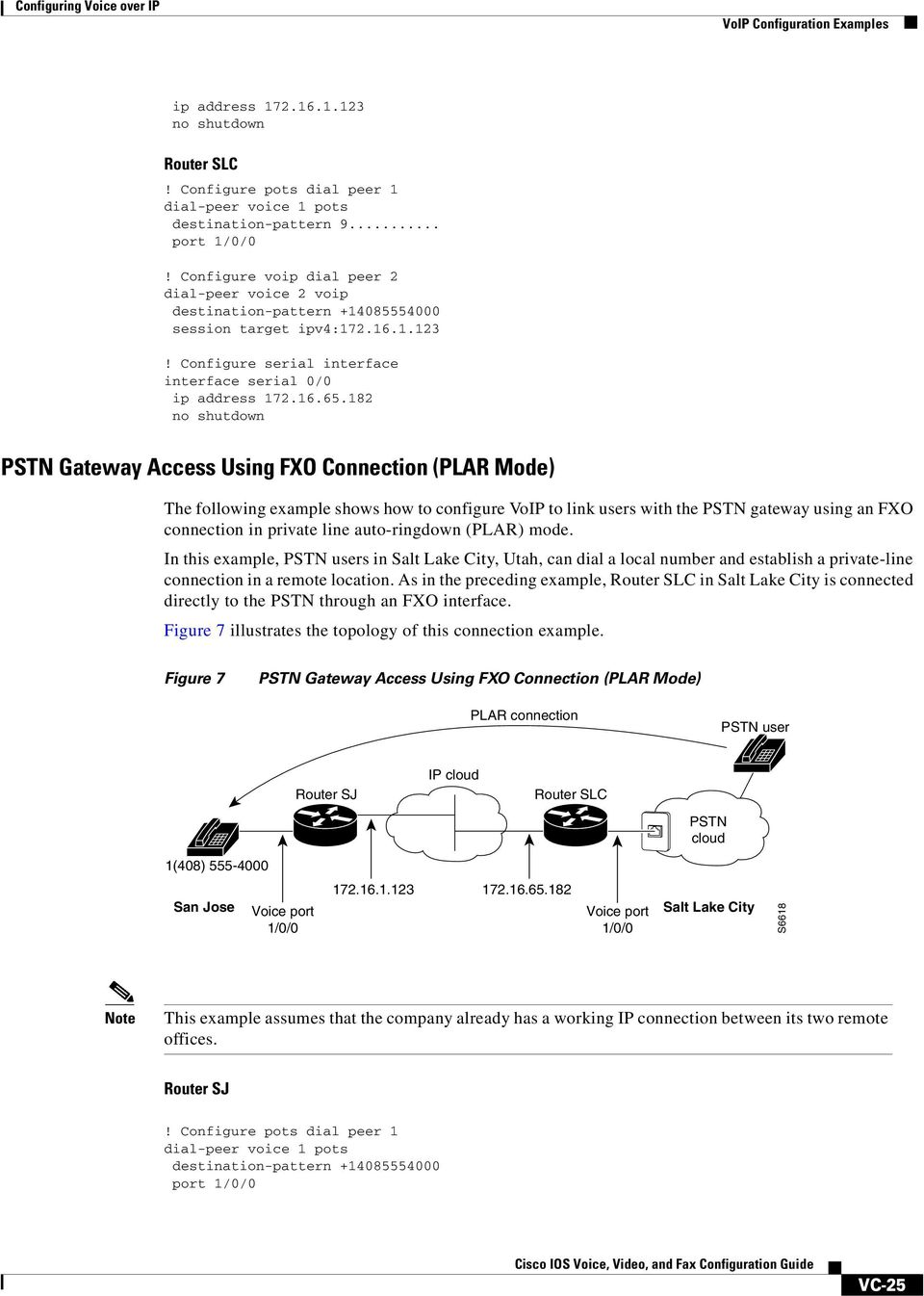 182 no shutdown PSTN Gateway Access Using FXO Connection (PLAR Mode) The following example shows how to configure VoIP to link users with the PSTN gateway using an FXO connection in private line