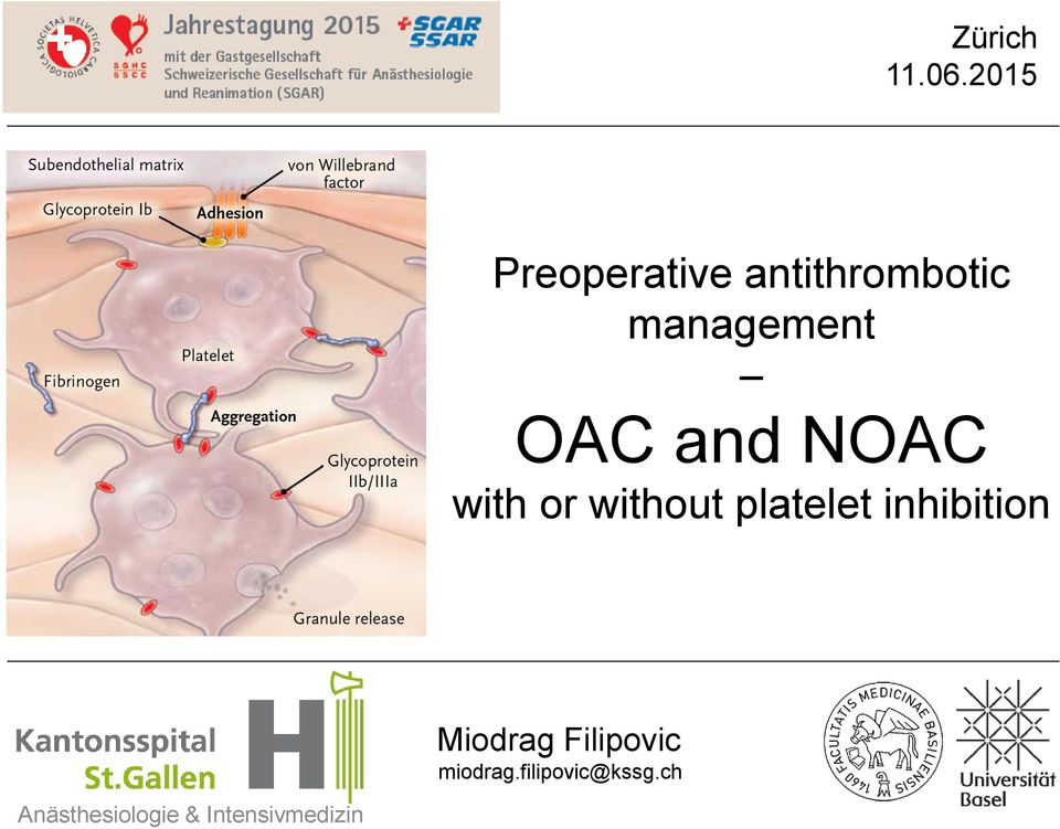 OAC and NOAC with or without platelet