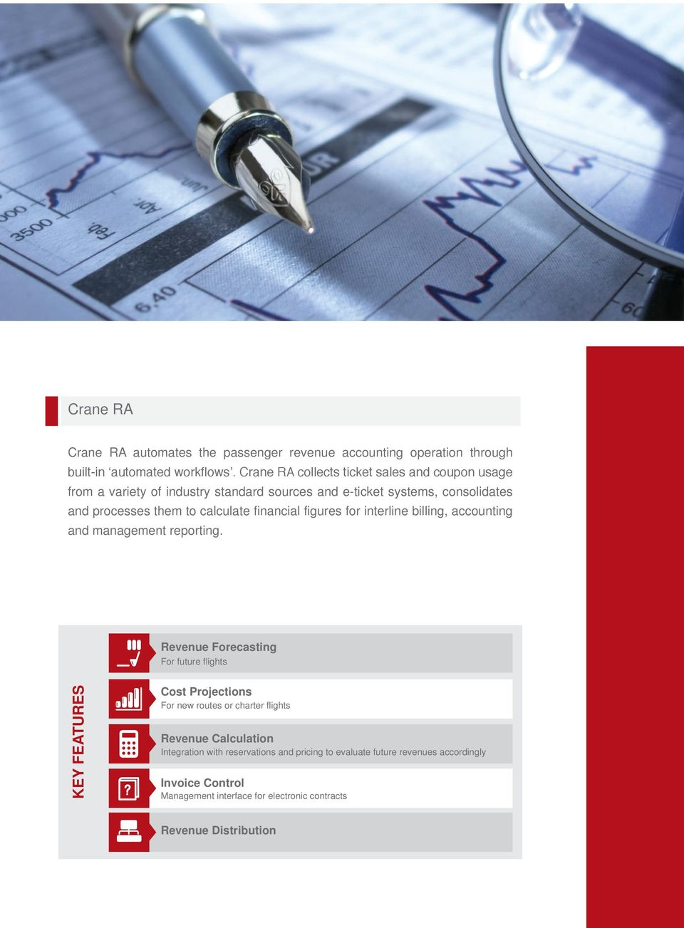 financial figures for interline billing, accounting and management reporting.