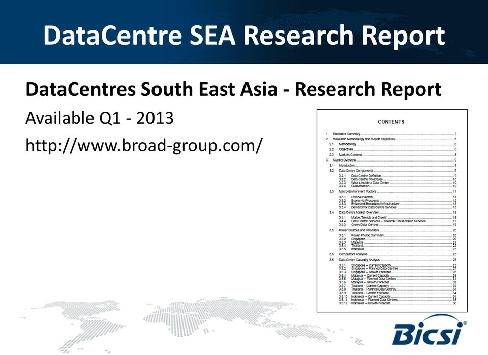 Research Report Available