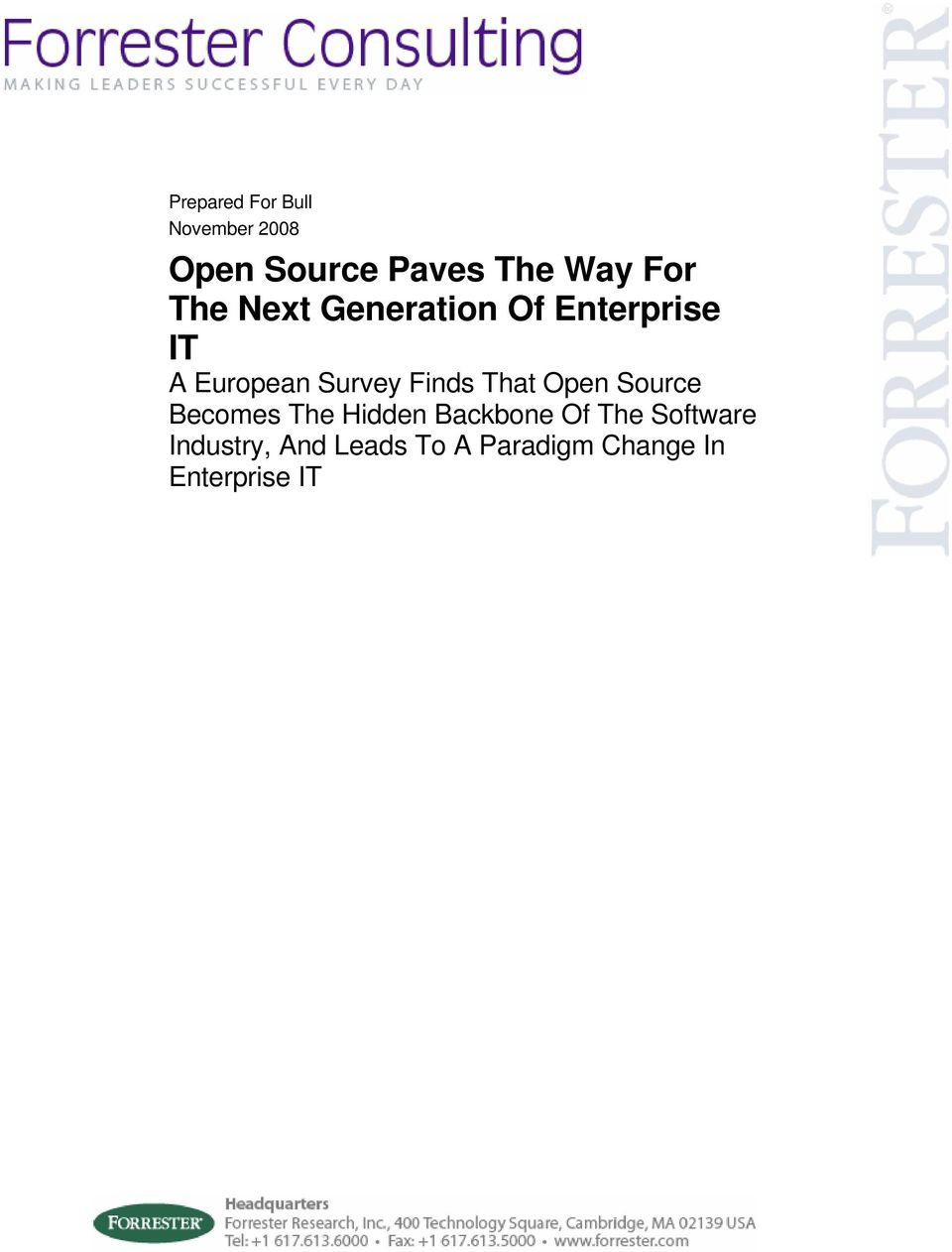 Finds That Open Source Becomes The Hidden Backbone Of The
