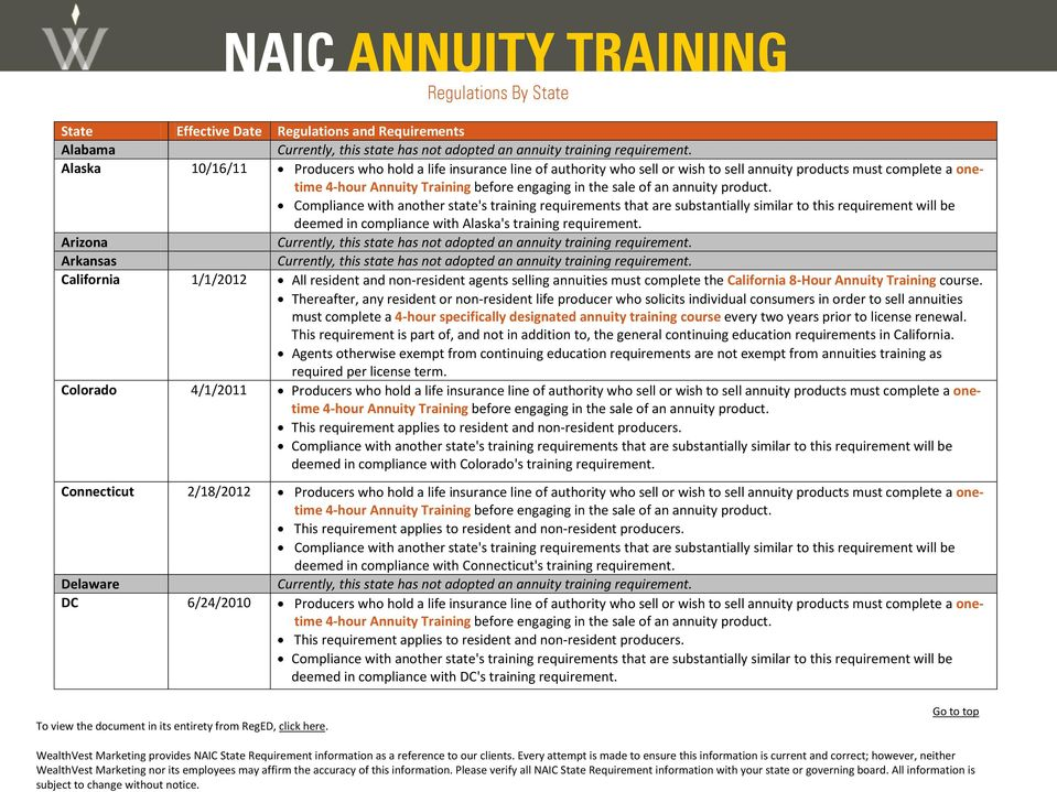 Thereafter, any resident or non-resident life producer who solicits individual consumers in order to sell annuities must complete a 4-hour specifically designated annuity training course every two
