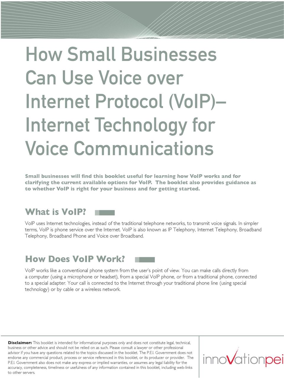 VoIP uses Internet technologies, instead of the traditional telephone networks, to transmit voice signals. In simpler terms, VoIP is phone service over the Internet.