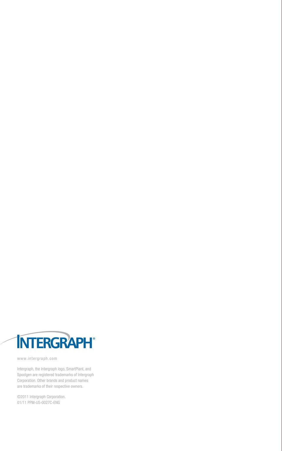 are registered trademarks of Intergraph Corporation.
