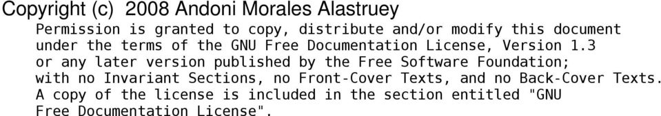 3 or any later version published by the Free Software Foundation; with no Invariant Sections, no