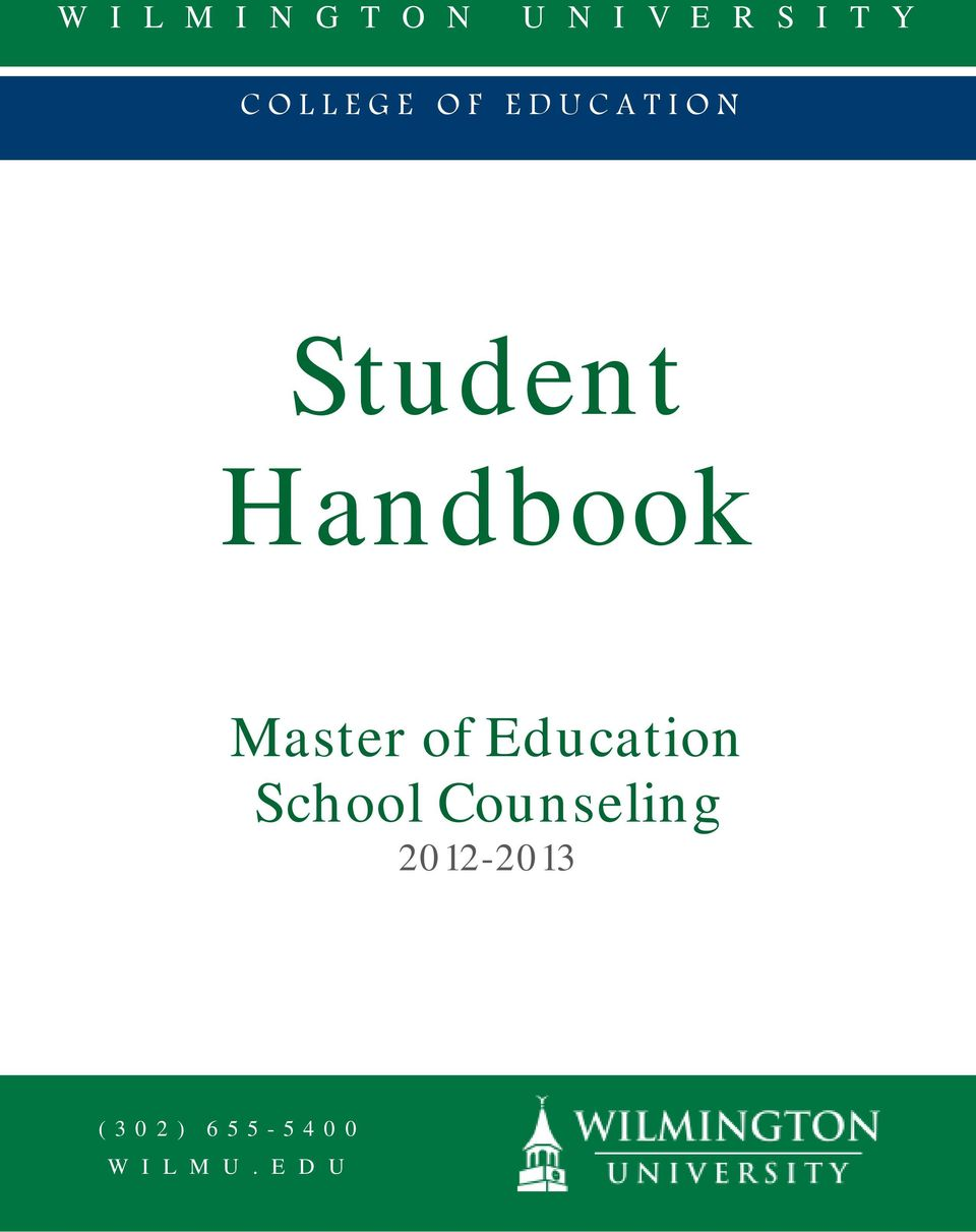 Master of Education School Counseling