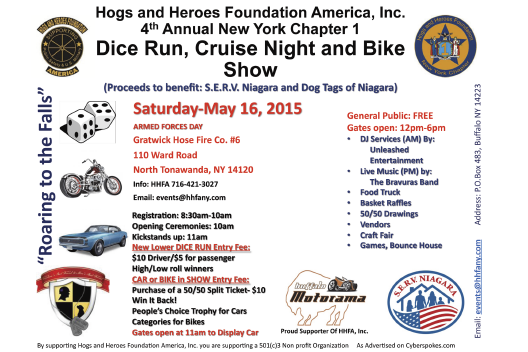 "SPONSORED BY CYBERSPOKES.COM Saturday May 23, 2015 - ""Stan's Harley Spring Test Rides"" Updates will be posted on Cyberspokes.com. Stan's Harley- Davidson Inc 4425 West Saile Drive Batavia, NY 14020."