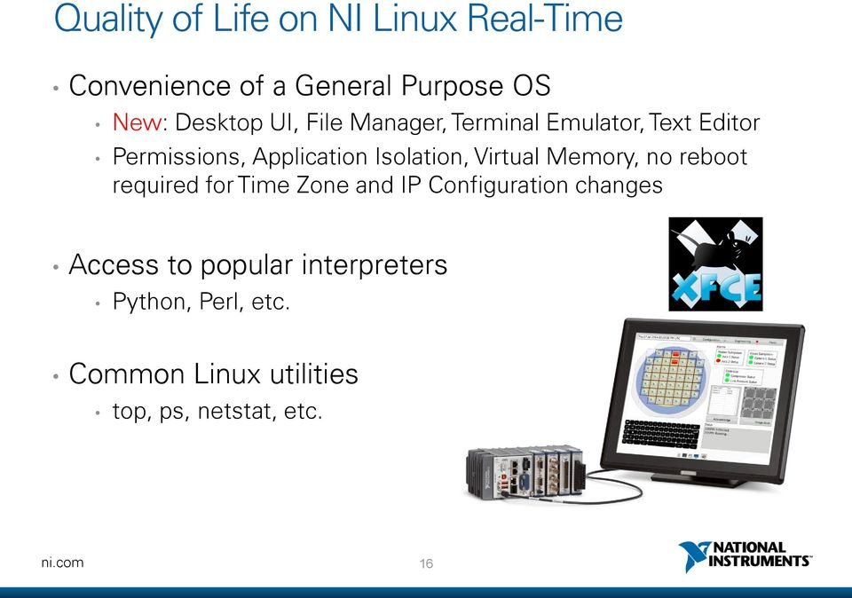 Virtual Memory, no reboot required for Time Zone and IP Configuration changes Access