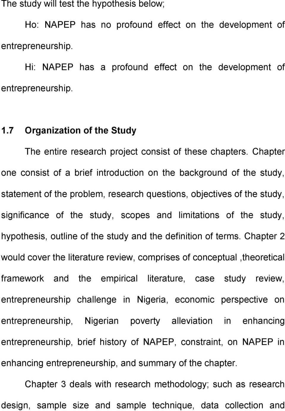 Phd thesis analysis chapter