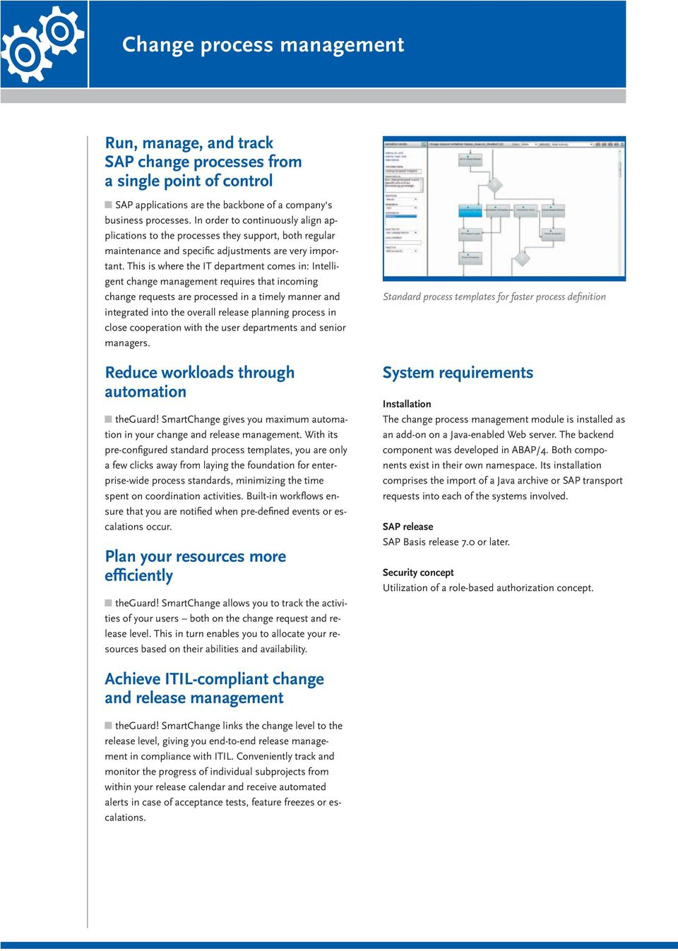 This is where the IT department comes in: Intelligent change management requires that incoming change requests are processed in a timely manner and integrated into the overall release planning