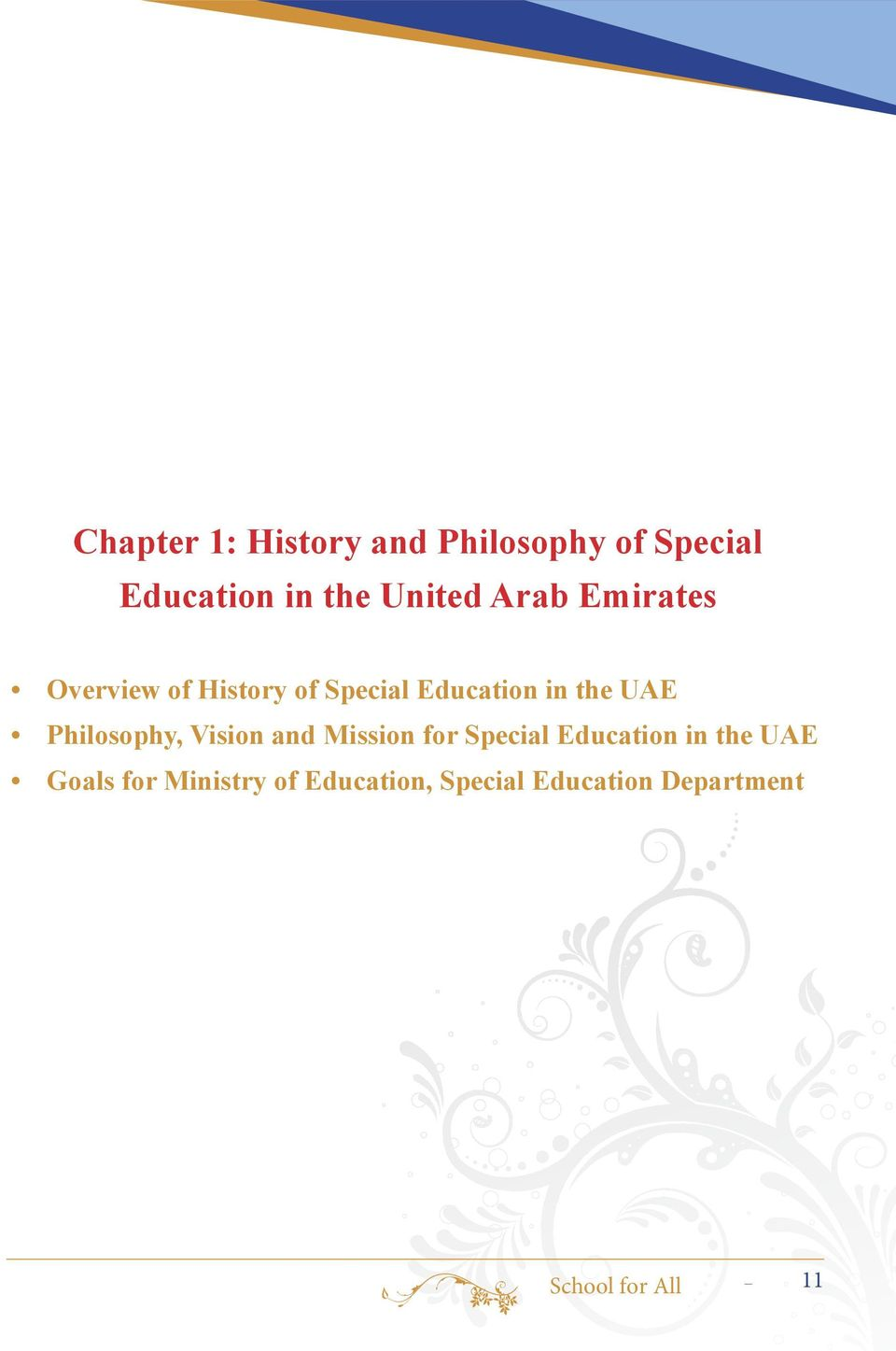 Philosophy, Vision and Mission for Special Education in the UAE Goals