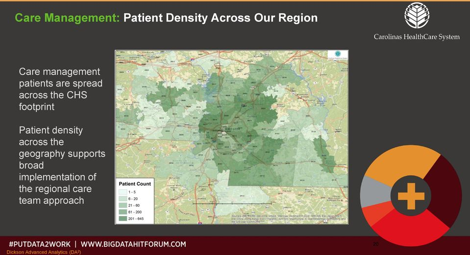 Patient density across the geography supports broad