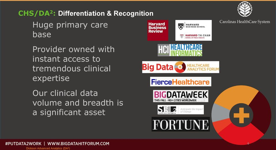 tremendous clinical expertise Our clinical data volume
