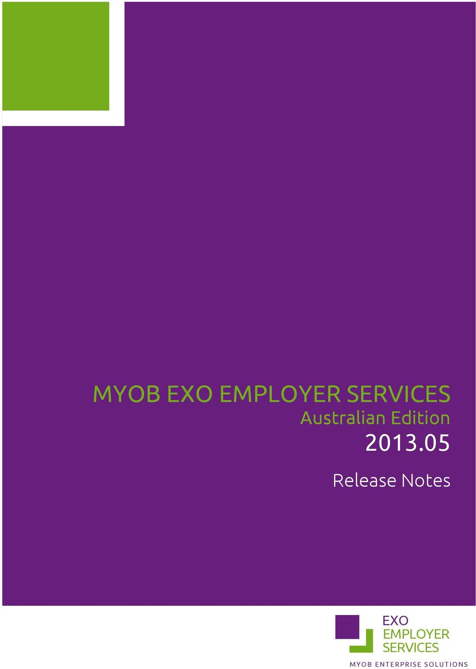 05 Release Notes EXO EMPLOYER