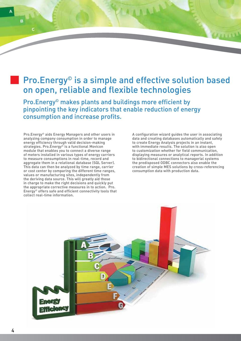 Energy aids Energy Managers and other users in analyzing company consumption in order to manage energy efficiency through valid decision-making strategies. Pro.
