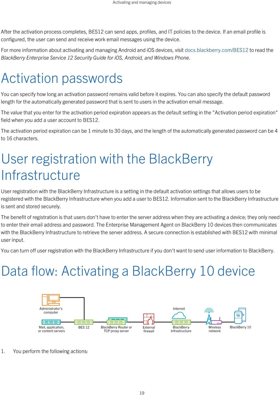 blackberry.com/bes12 to read the BlackBerry Enterprise Service 12 Security Guide for ios, Android, and Windows Phone.