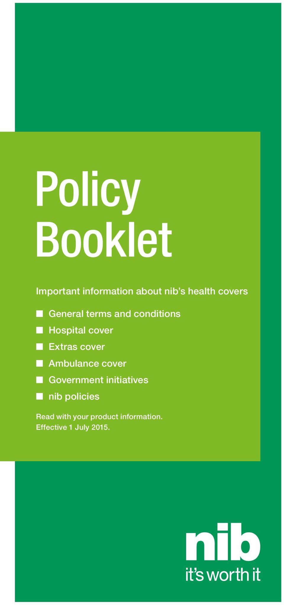 cover Ambulance cover Government initiatives nib policies