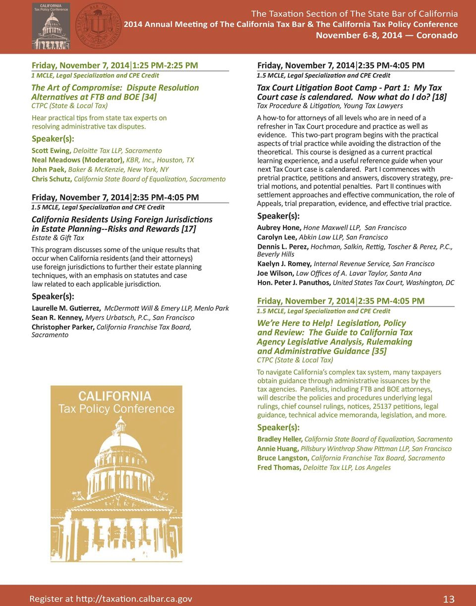 The State Bar of California Taxation Section - PDF