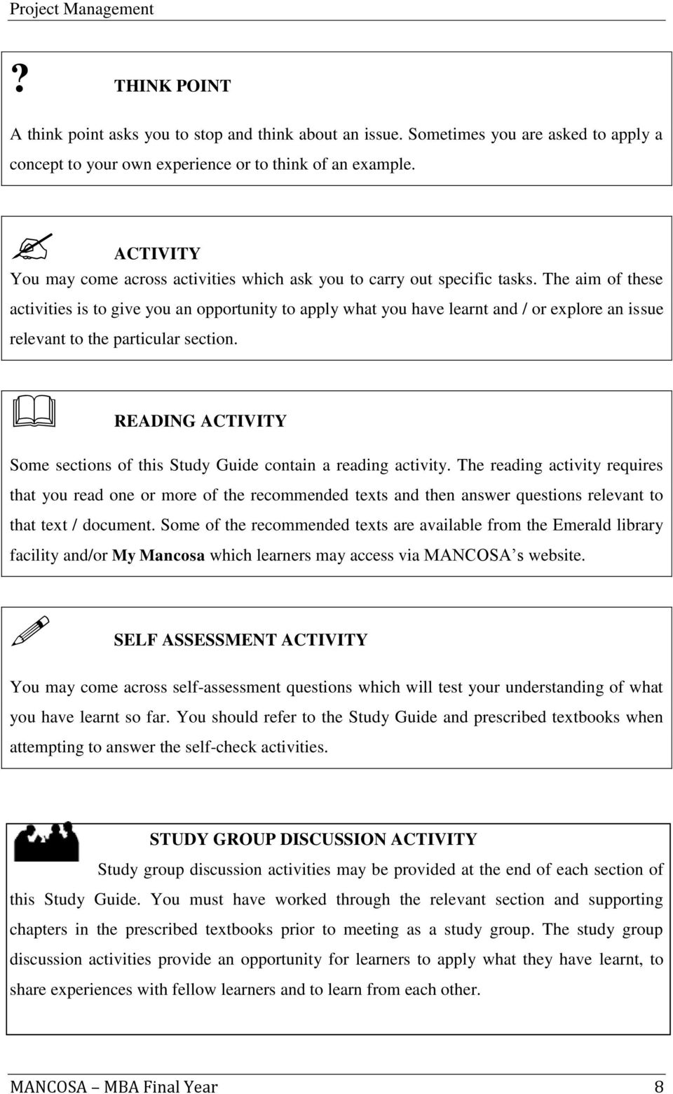 Management Study Guide - Library