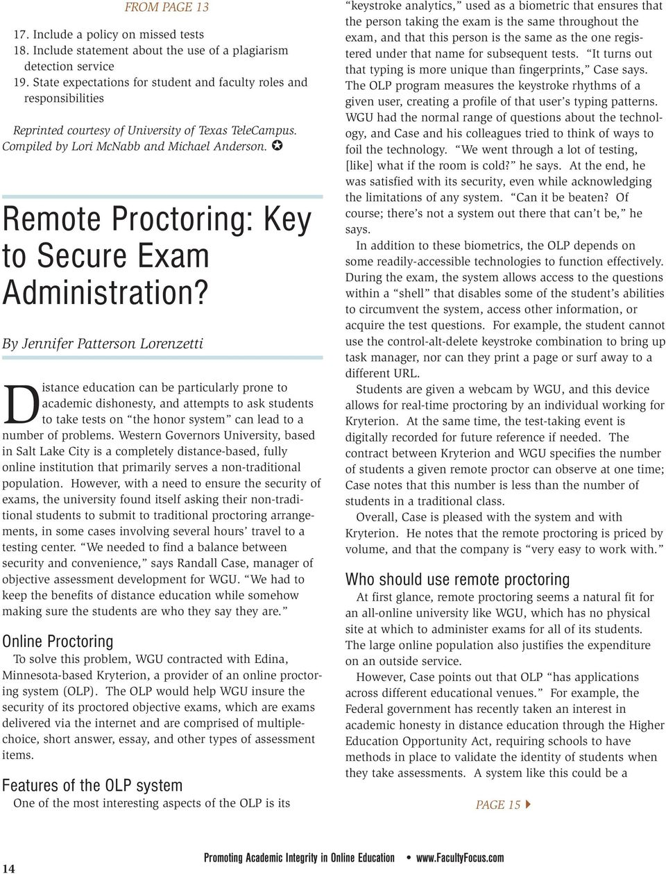 Remote Proctoring: Key to Secure Exam Administration?