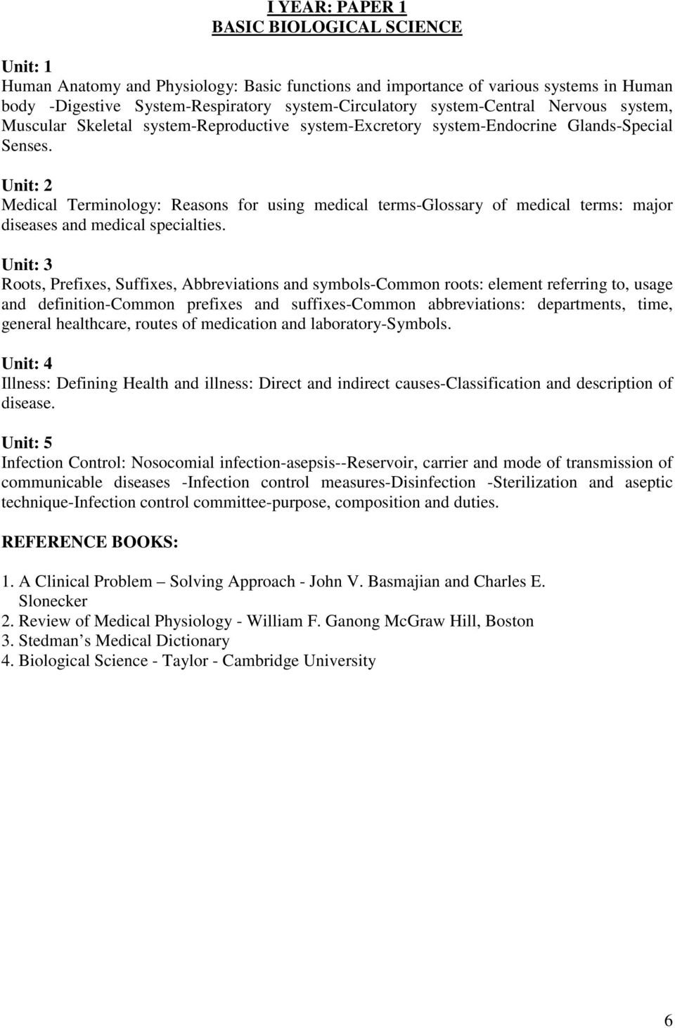 Regulations and syllabus for mba hospital management offered by medical terminology reasons for using medical terms glossary of medical terms major diseases biocorpaavc Images