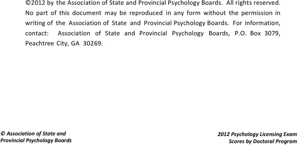 Association of State and Provincial Psychology Boards.