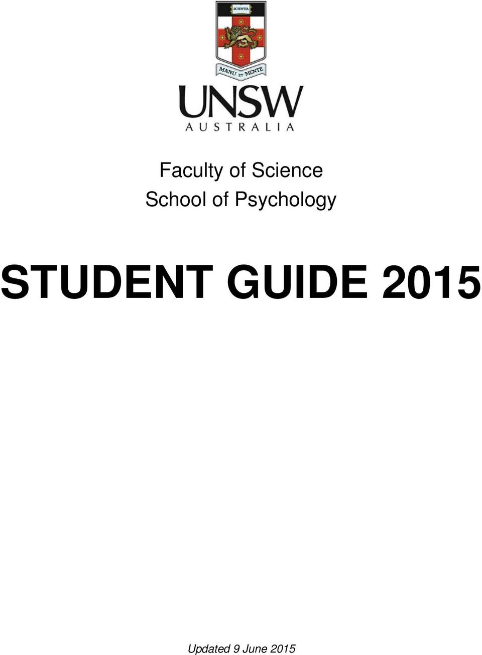 STUDENT GUIDE 2015