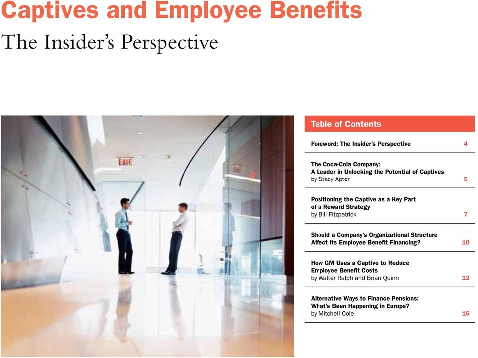 Fitzpatrick 7 Should a Company s Organizational Structure Affect Its Employee Benefit Financing?