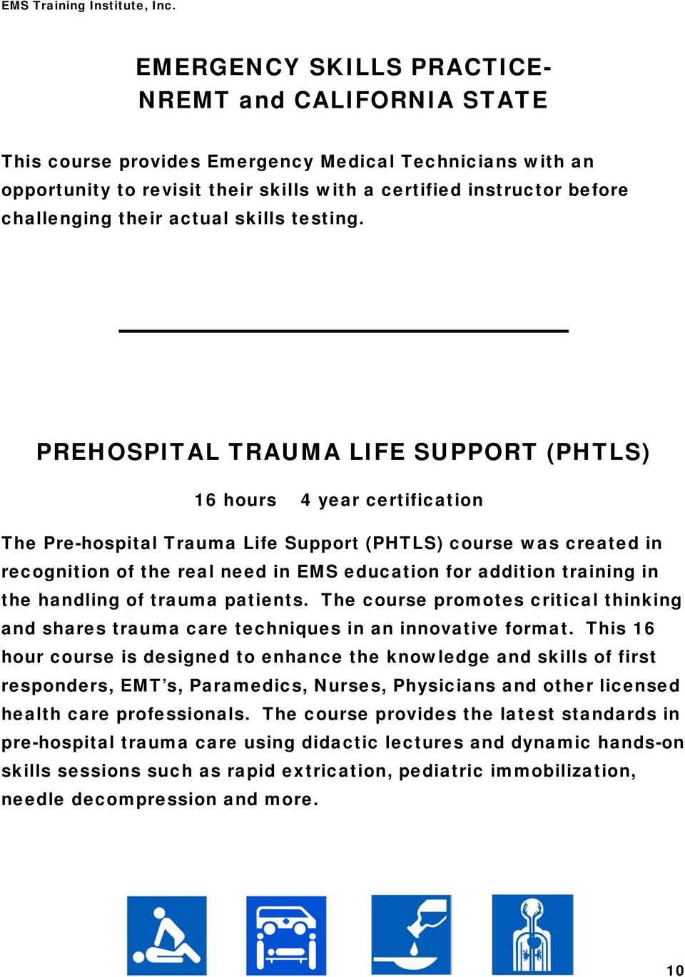 Ems Training Institute Inc Pdf