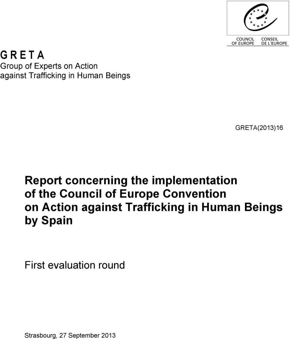 Council of Europe Convention on Action against Trafficking in