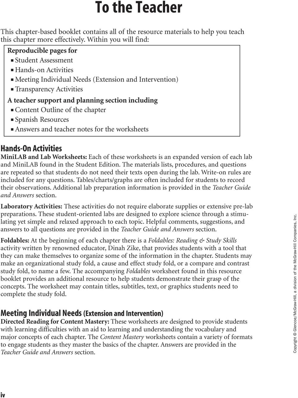 Skills worksheet vocabulary review chemistry of life