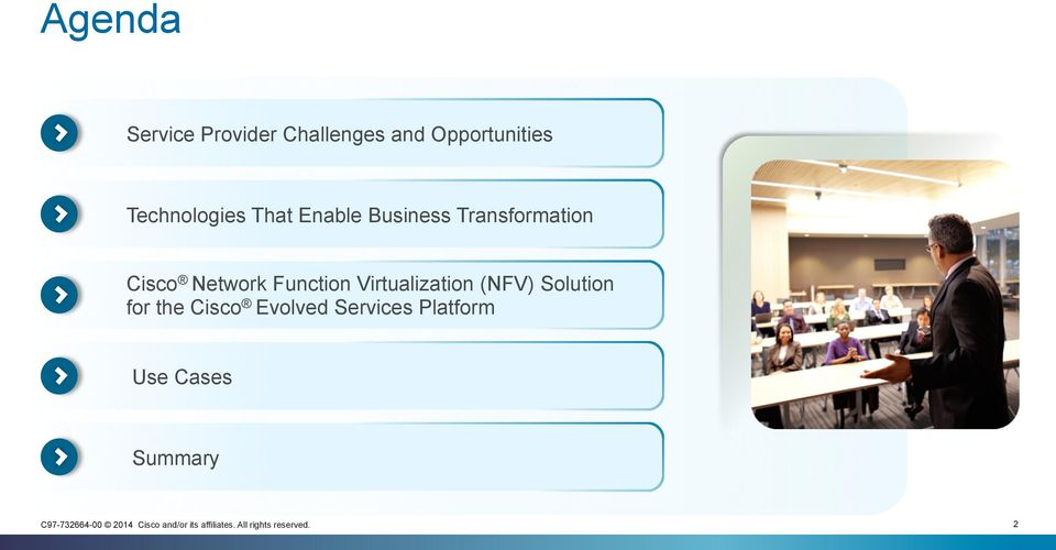 Cisco Network Function Virtualization (NFV) Solution