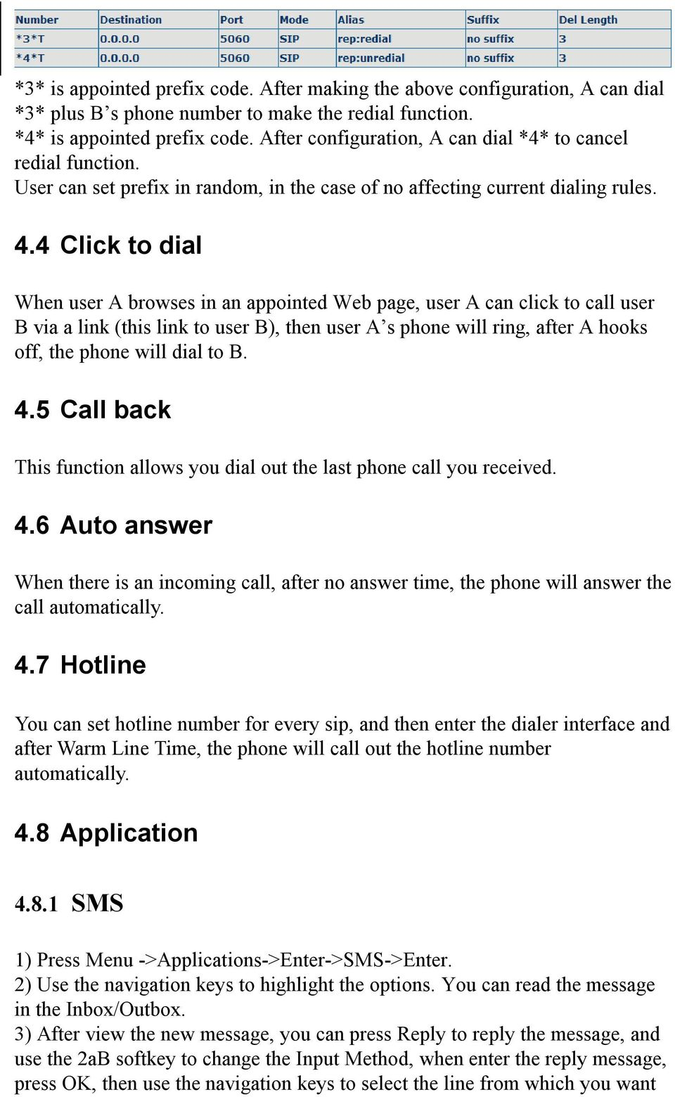 4 Click to dial When user A browses in an appointed Web page, user A can click to call user B via a link (this link to user B), then user A s phone will ring, after A hooks off, the phone will dial