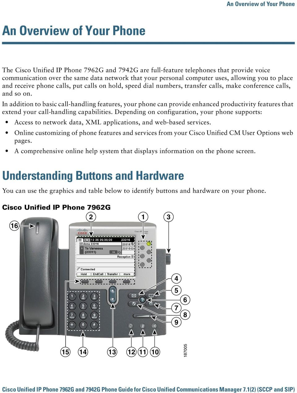 In addition to basic call-handling features, your phone can provide enhanced productivity features that extend your call-handling capabilities.