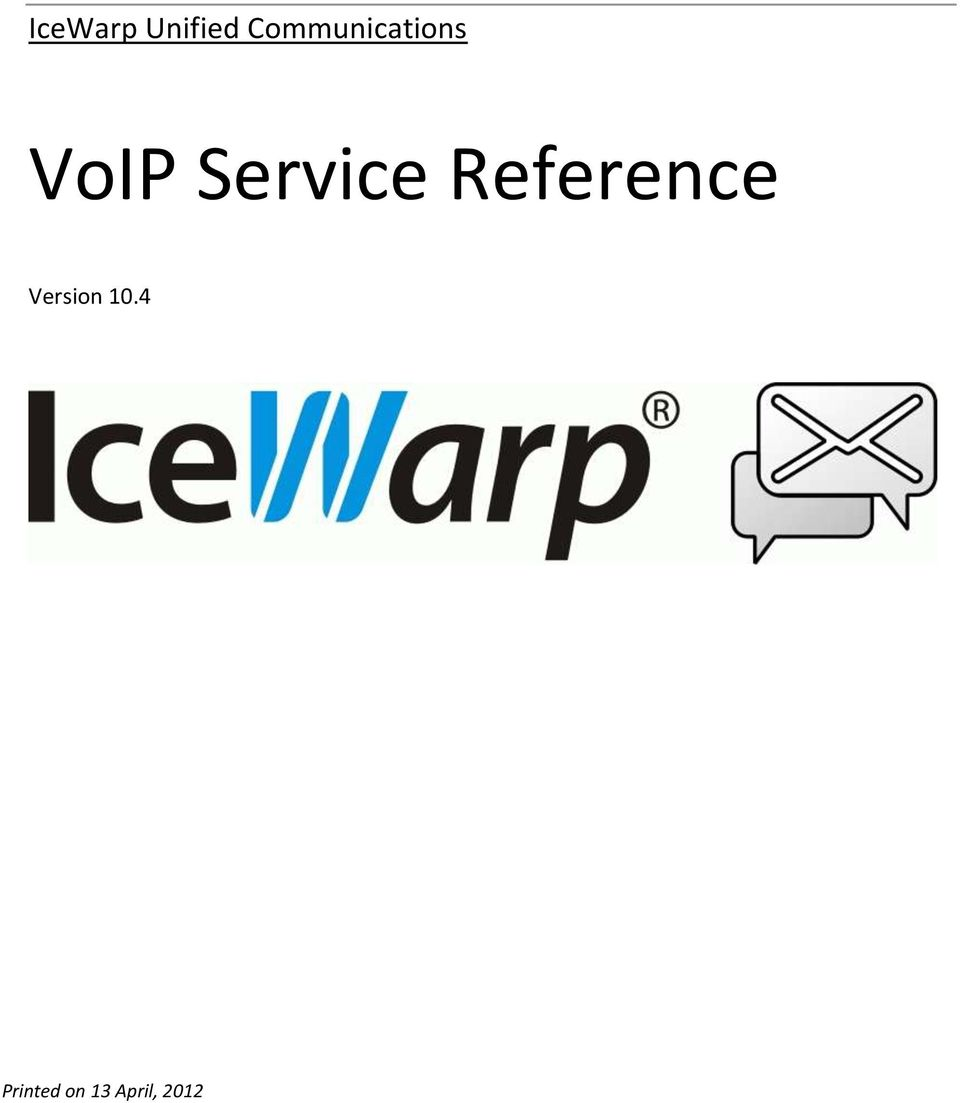Service Reference