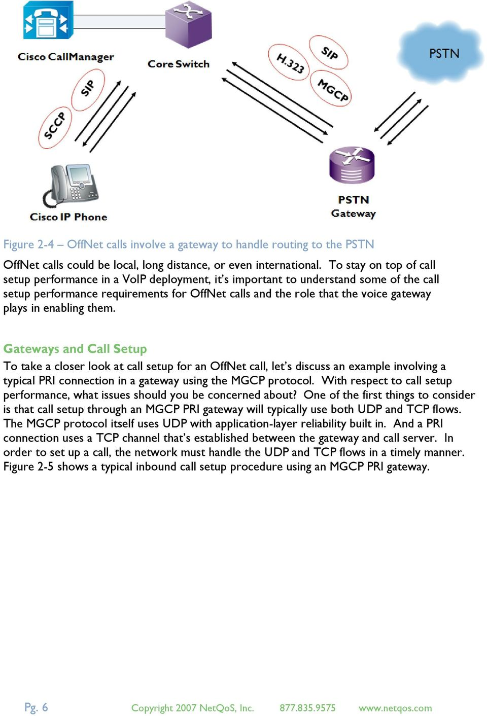 in enabling them. Gateways and Call Setup To take a closer look at call setup for an OffNet call, let s discuss an example involving a typical PRI connection in a gateway using the MGCP protocol.