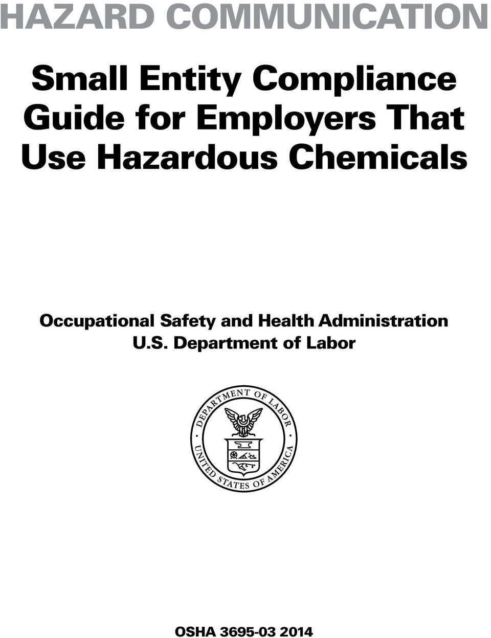 Chemicals Occupational Safety and Health