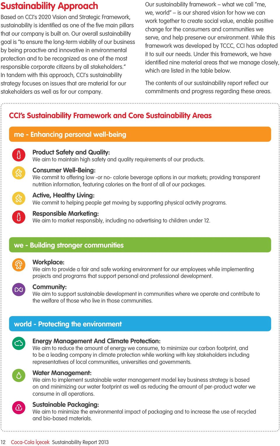 corporate citizens by all stakeholders. In tandem with this approach, CCI s sustainability strategy focuses on issues that are material for our stakeholders as well as for our company.