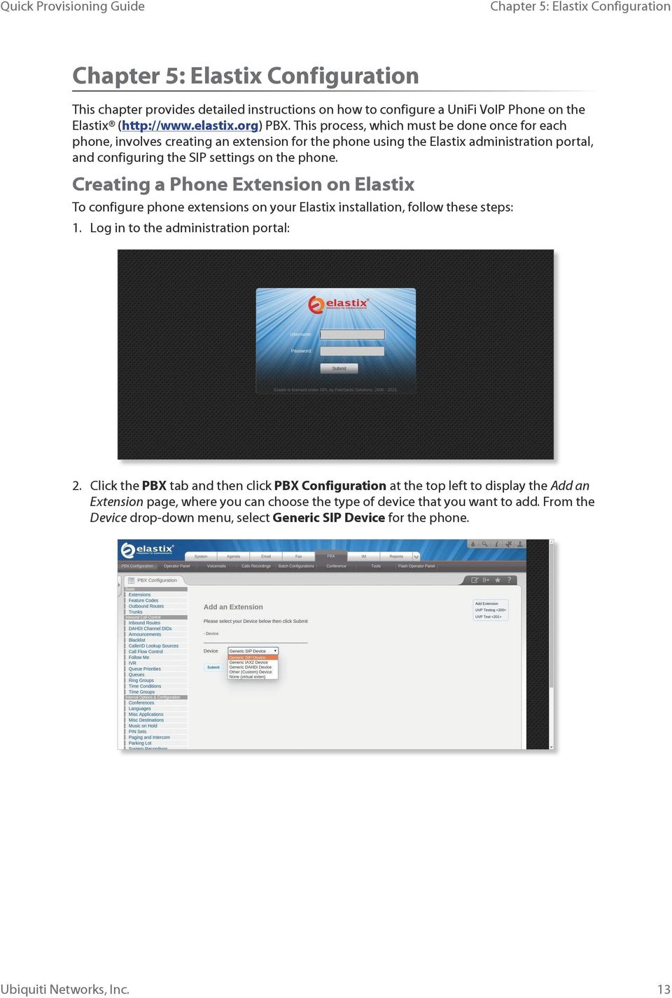 This process, which must be done once for each phone, involves creating an extension for the phone using the Elastix administration portal, and configuring the SIP settings on the phone.