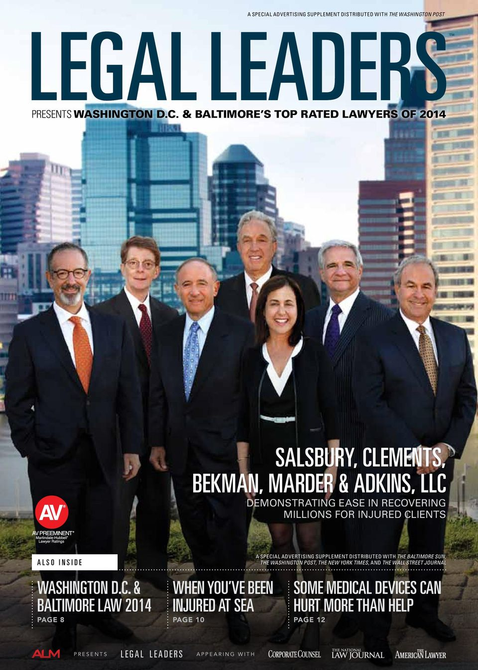 & baltimore s top rated lawyers of 2014 Salsbury, Clements, Bekman, Marder & Adkins, LLC demonstrating ease in recovering millions for injured