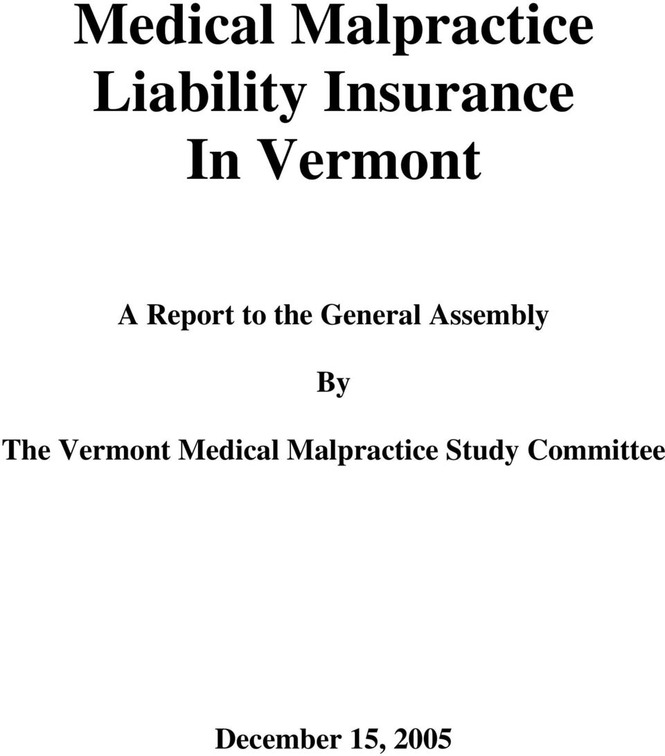 General Assembly By The Vermont