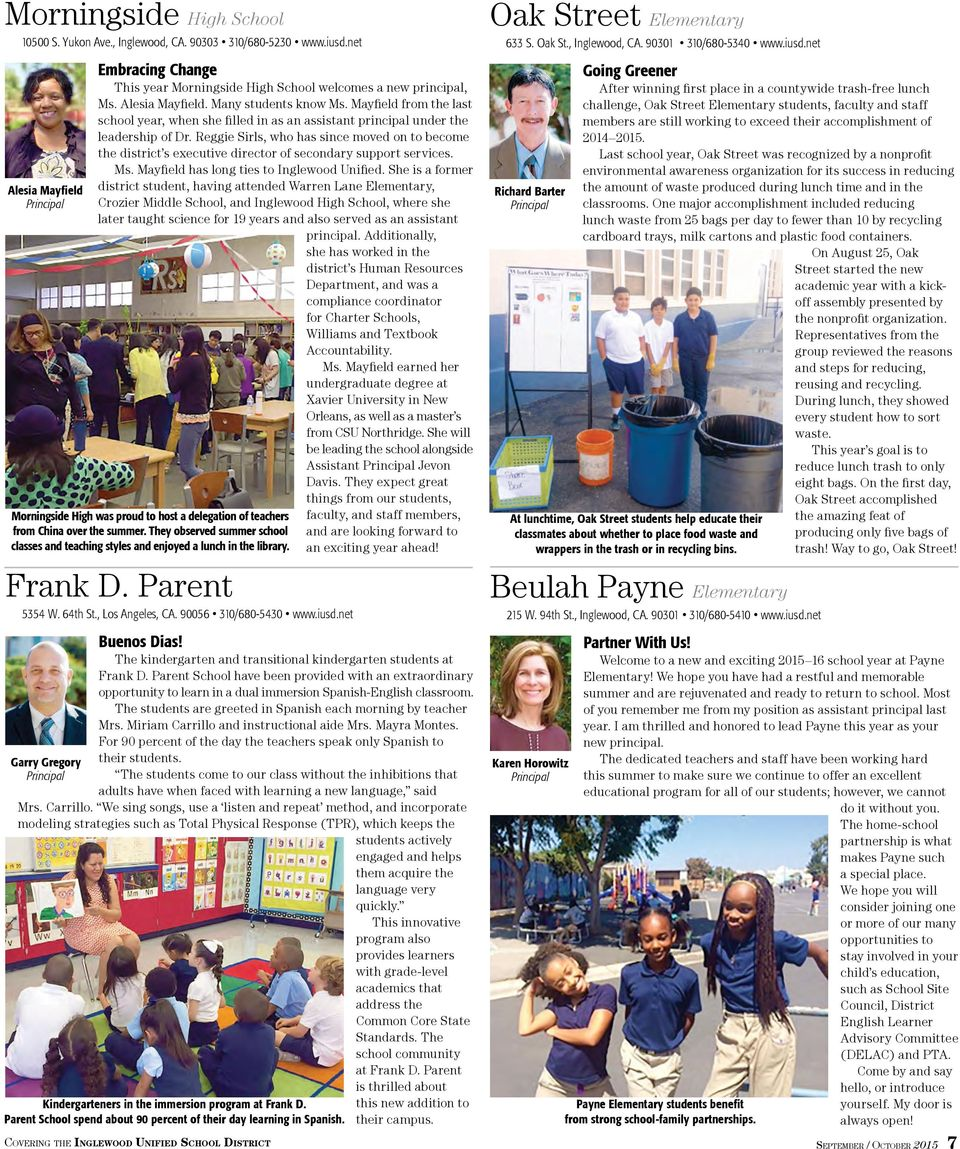 Covering the Inglewood Unified School District - PDF