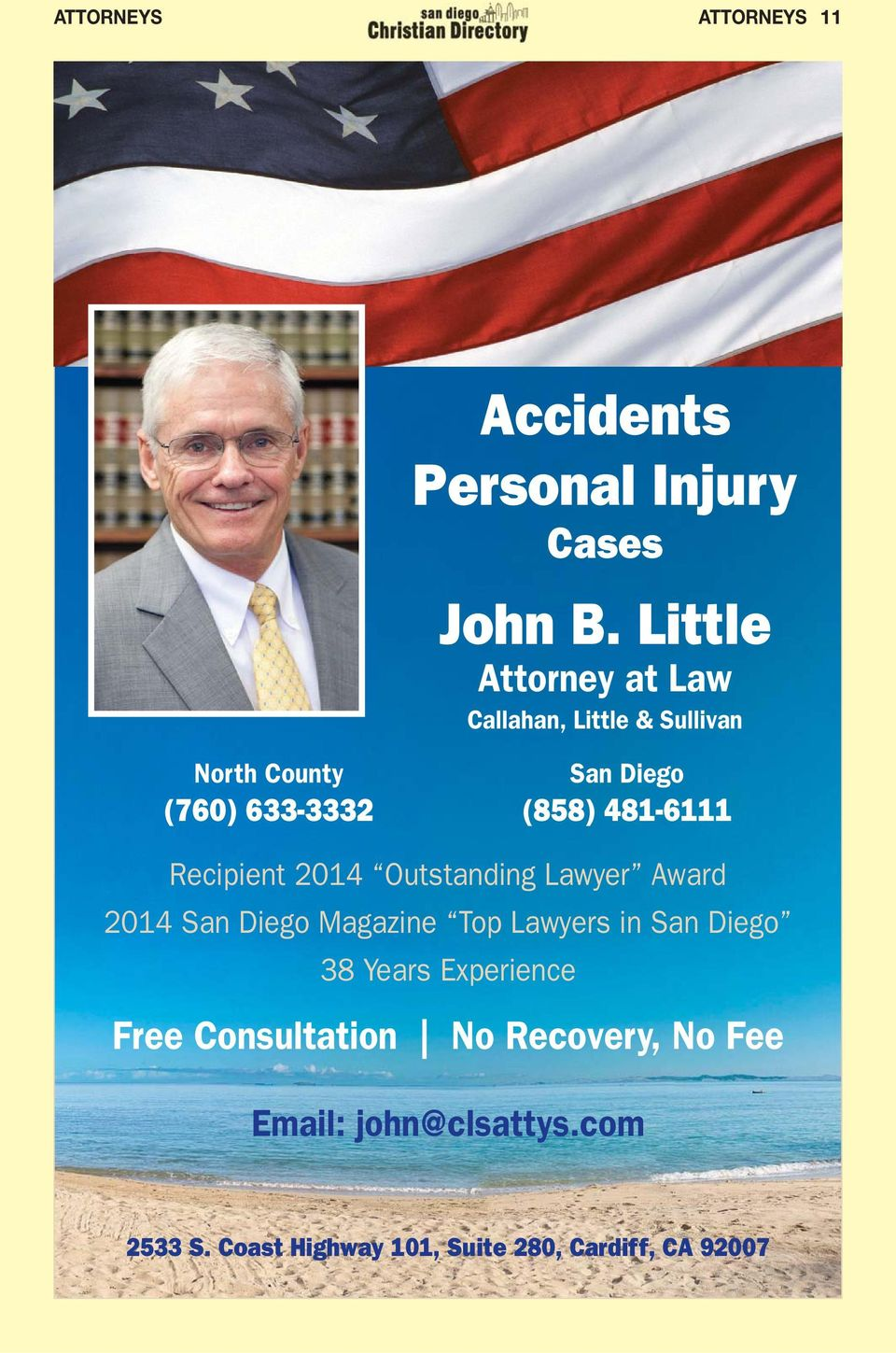 Outstanding Lawyer Award 2014 San Diego Magazine Top Lawyers in San Diego 38 Years Experience Free