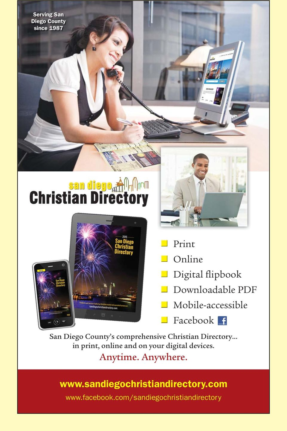 Christian Directory in print, online and on your digital devices. Anytime.