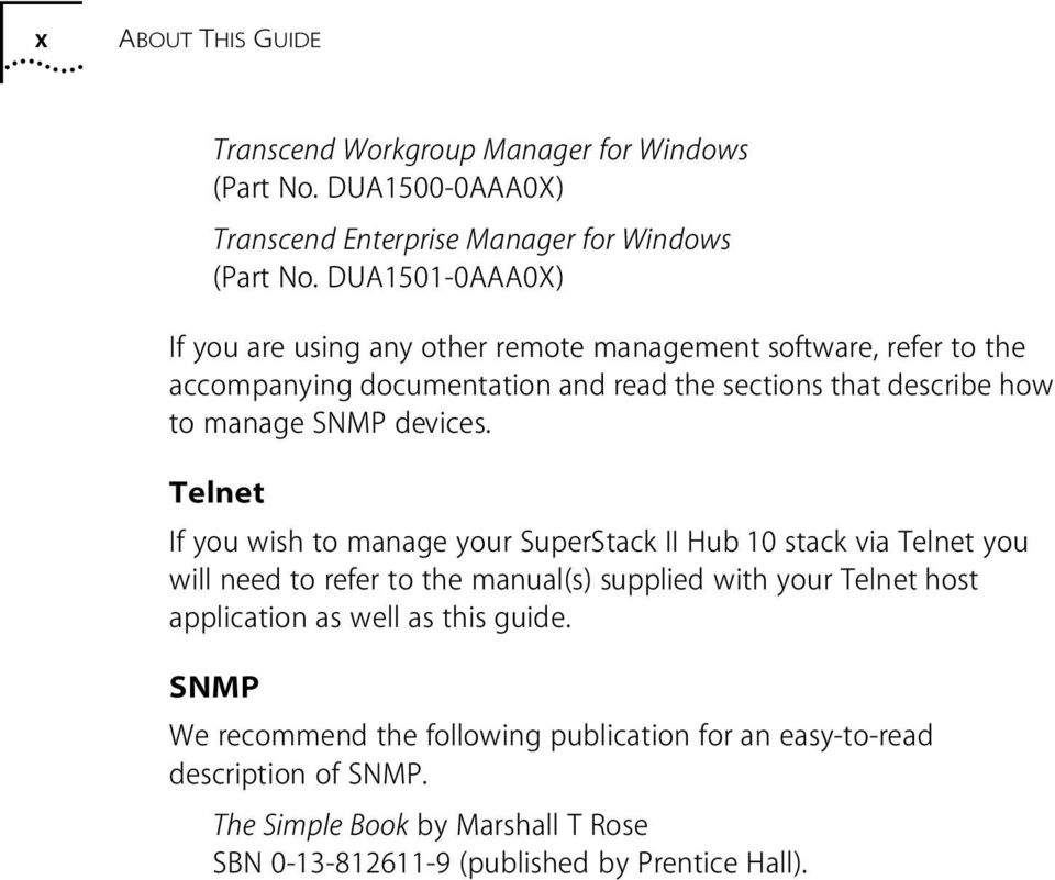 SNMP devices.