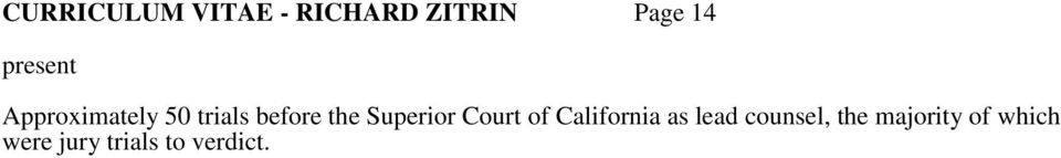 Superior Court of California as lead counsel,