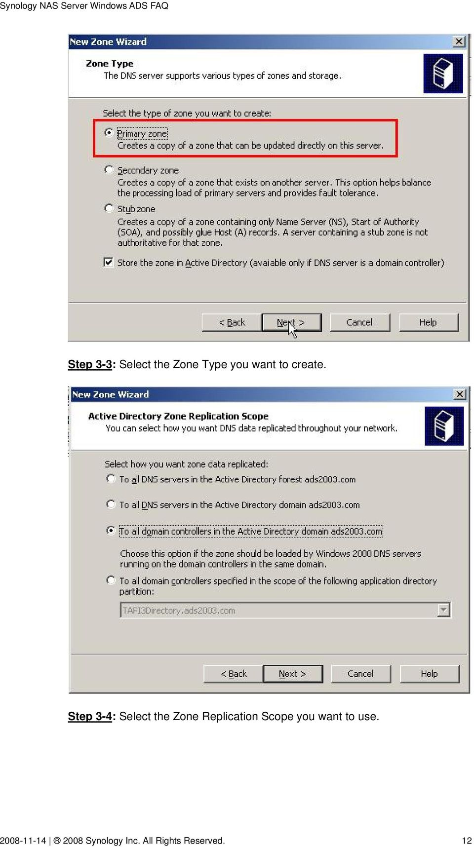 Step 3-4: Select the Zone Replication