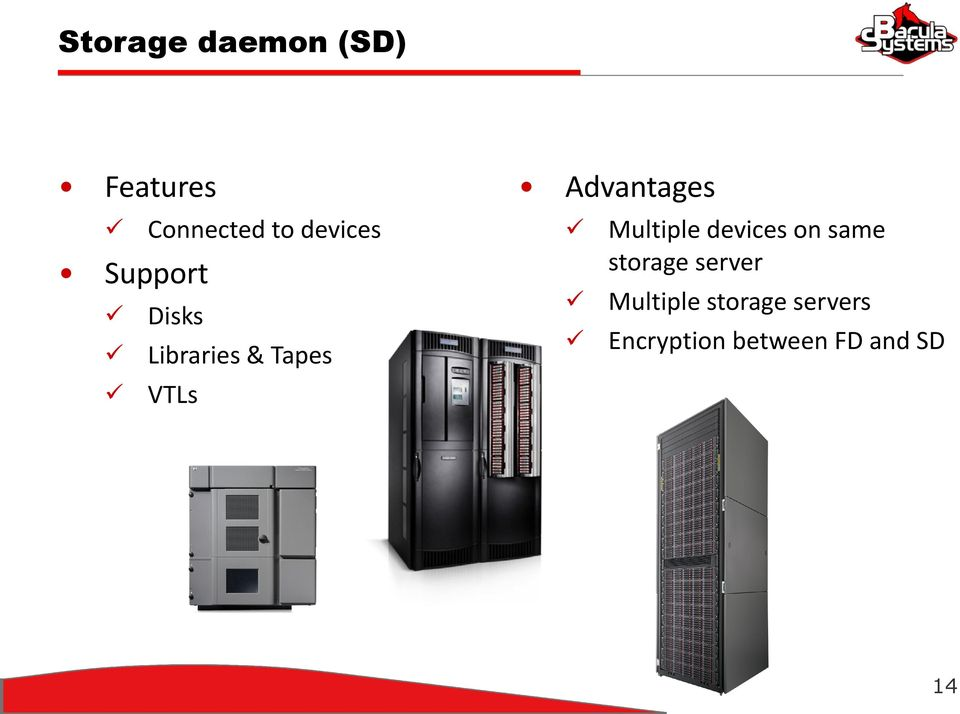 Advantages Multiple devices on same storage